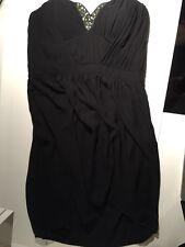 black formal dress 14, embellished sweetheart neckline, strapless,