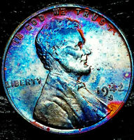 """1942 S Lincoln Wheat Penny Cent- """"Beautiful Toning"""" SUPERB GEM HIGH GRADE #03"""