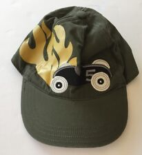 NWT Gymboree Turbo Racer 2T-3T Olive Green Race Car Flames Baseball Cap Hat