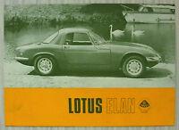 LOTUS ELAN Sports Car Sales Brochure 1967