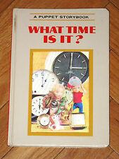 WHAT TIME IS IT? Puppet Storybook T. Izawa hologram 3D 1968 Grosset & Dunlap HB