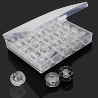 25 Spools Bobbins Sewing Machine Bobbin Case Organizer Empty Storage Boxes YO