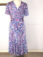 FAB COUNTRY CASUALS CC LILAC MIX STRETCHY TOP & SKIRT SUIT- Size M Petite 14-16