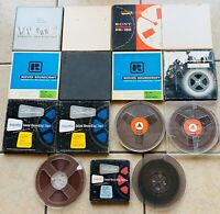 Vintage Magnetic Reel to Reel Recording Tapes Sony BASF Silvertone Lot of 15