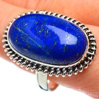 Large Lapis Lazuli 925 Sterling Silver Ring Size 11.5 Ana Co Jewelry R48594F