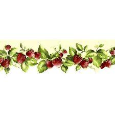 Norwall Fresh Kitchen Strawberry Die Cut (yellow/red) Wallpaper Border-FK78455DC