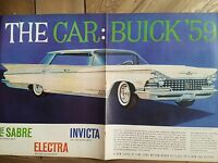 1959 White Buick Electra Car 2  two page original color ad
