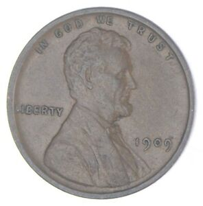 XF+ 1909 Lincoln Wheat Cent - 1st Year Issue - Great Condition *845