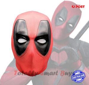 Deadpool Latex Mask X-men Marvel Halloween Movie Party Dressup Cosplay Head AUS
