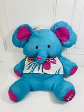 Vintage Fisher Price Wild Things Puffalump Elephant Defects