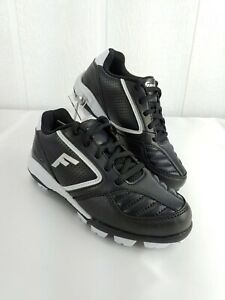 Franklin Tournament Baseball Cleats Kids Boys Youth Black & White 10 12 13 1 New