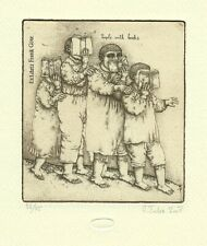 Exlibris Etching Bookmark: Federenko