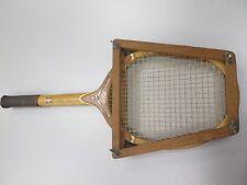 Vintage Tad Davis Hi-Point Wooden Tennis Racquet Racket 4-5/8 L Custom Made Usa