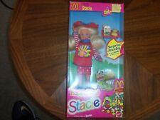 1993 Mattel NIB Barbie's littlest sister HAPPY MEAL STACIE w/ McDonald's food!