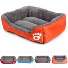 Pet Bed Dog Cat Puppy Deluxe Warm Cushion Soft Washable Basket Mat Winter New
