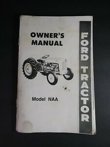 Vtg 1954 Ford NAA Owner's Operator's Manual SE5943 ~ Original ~ LOOSE COVER ~ B9