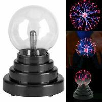 Magic Plasma Static Ball Lava Lamp Light Touch Sensitive Electric USB Battery