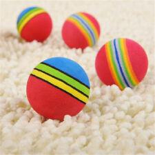 Rainbow Ball Pet Dog Cat Puppy Chew Toys Durable Bite Balls Interactive Training