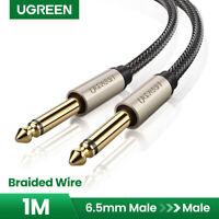 "UGREEN Premium 6.35mm Mono Jack 1/4"" TS Guitar Instrument Cable Nylon braid 3FT"