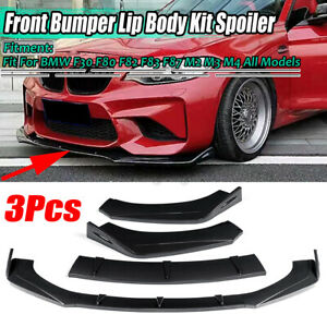 For BMW E46 E39 4 door Sedan 1998-2005 Carbon Look Front Bumper Lip Splitter