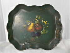 Vintage Nashco Products New York - Hand Painted Fruit Metal Tray