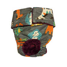 Dog Diapers - Made in USA - Jungle Buddies on Gray Washable Dog Diaper Dog Na...