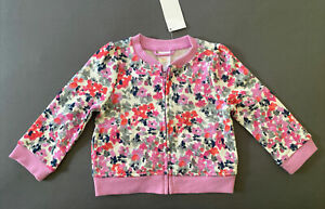 Toddler Girl 18-24 Month Gymboree Multicolored Floral Zip Up Jacket Sweater
