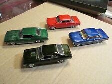 4 Loose Johnny Lightnings, 2 65 Chevy Ii, 69 Nova, 68 Chevelle 1/64 scale