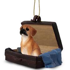 Puggle Traveling Companion Dog Figurine In Suit Case Ornament