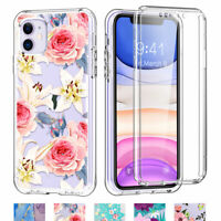Shockproof Cute Flower with Screen Protector Phone Case For Apple iPhone 11 XR