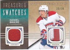 Daniel Briere 2014 15 Upper Deck Artifacts Treasured Swatches Jersey Patch 20/36