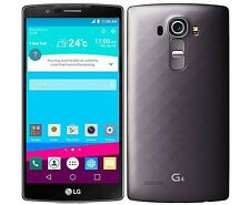 "LG G4 5.5"" H810 32GB 4G LTE 16MP 3GB RAM Fm WiFi Gris Libre Telefono Androide"