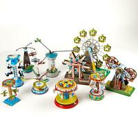 Wind Up Carousel Tin Toy Vintage Fairground Ferris Wheel Collectable Gift UK