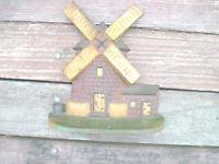 Door Stop CAST IRON Doorstop Antique RARE WIND MILL NICE SHAPE
