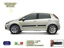 Modanature Fiat Grande Punto esterne laterali gomma adesivi salvaurti laterali