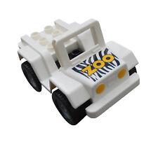 LEGO DUPLO JEEP VÉHICULE TOUT TERRAIN AVEC Zoo empreinte NEUF AUTO