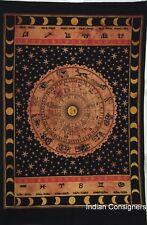 Sun Sign Rasta Orange Zodiac Astrology Wall Hanging Tapestry Small Poster Hippie