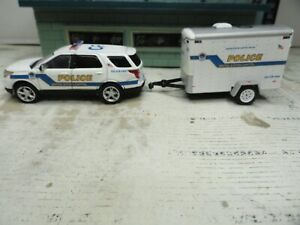GREENLIGHT POLICE FORD EXPLORER UNITED STATES CAPITOL WITH TRAILER  CUSTOM UNIT