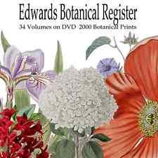 Edwards Botanical Art Prints Engravings 33 Volumes + 2000 Prints Decoupage Craft