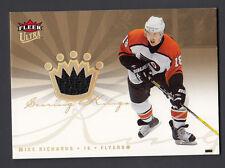 Mike Richards 2005-06 Ultra Scoring Kings Game Worn Jersey Card Flyers