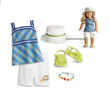 "American Girl LE LANIE GARDEN OUTFIT for 18"" Doll Sandals Retired Clothes NEW"