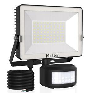 LED Fluter mit Bewegungsmelder Außen Strahler 30W 50W Garten Lampe Scheinwerfer