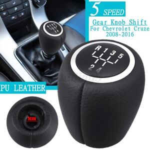 5 Speed Gear Shift Knob PU Leather For Holden Cruze 2009-2016 Epica 2007-2011 AU