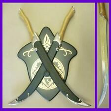 The Lord of the Rings Legolas Fighting Elven Knives with Scabbard LOTR
