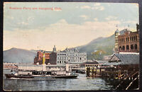1916 Hong Kong Picture Postcard Cover To Leipzig Germany Kowloon Ferry