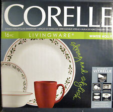 Corelle Winter Holly 16 pc Holiday Dinnerware Set Corning NEW in Unopened Box