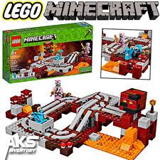 MINECRAFT LEGO THE NETHER RAILWAY 21130 - 387 pcs Kids Toy Gift New