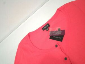 NEW Lane Bryant Women's Sweater Plus Size 18 / 20 Pink Button Up Scoop Neck Top