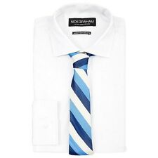 NWT $155 NICK GRAHAM Men MODERN-FIT WHITE LONG-SLEEVE DRESS SHIRT 16-16.5 32/33