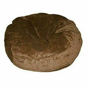 1 PC Home Decor Velvet Brown Bean Bag Cover Without Beans Comfortable & Washable